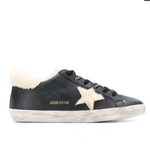 GOLDEN GOOSE Superstar shearling-lined leather 39